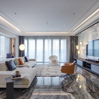 大理石地板客厅图片