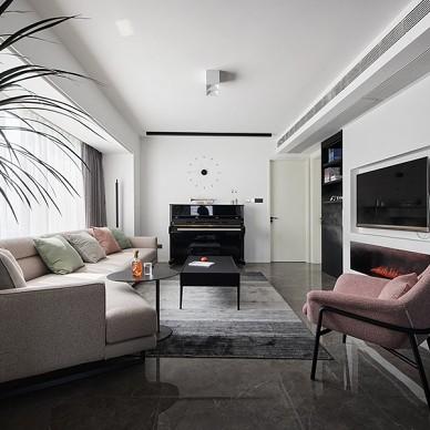 现代简约客厅装修效果