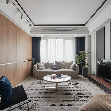 小平方客厅电视墙装修效果图