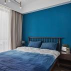 深蓝色卧室装修效果图