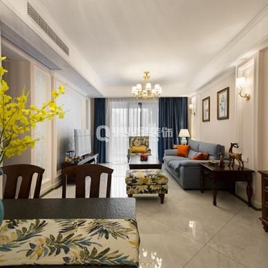 俏业家装饰|沙磁巷|3室美式风格装修设计_1600848543_4270839