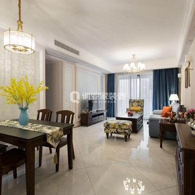 俏业家装饰|沙磁巷|3室美式风格装修设计_1600848543_4270840