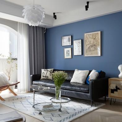衣帽间、大书房,90平米俩居室纯正北欧风