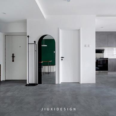 墨绿+白,轻奢气质打造复古简约美宅_1602210182_4281391