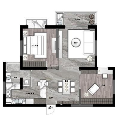 这是一个有细节、懂品位、爱生活的家!