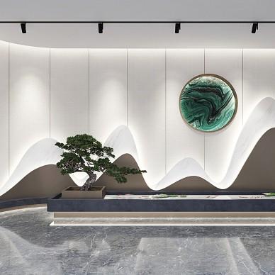 新中式售楼处,古韵时尚的山水画卷!_1603246671_4292695