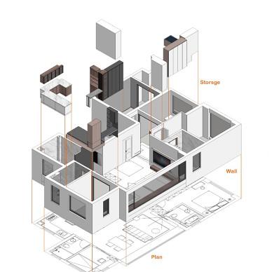 设计与理性,重塑建筑设计师别样婚房_1604908297_4311129