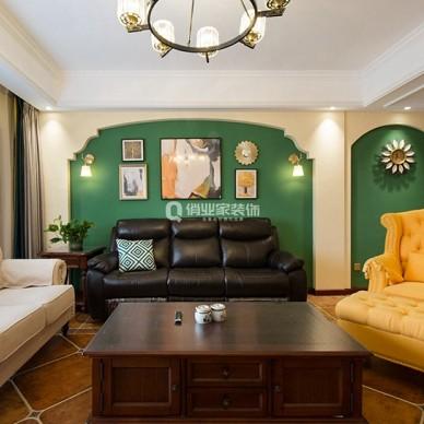 重庆绿地翠谷4房美式风格装修设计案例作品_1605058758_4312763