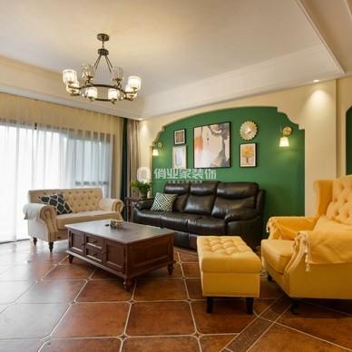 重庆绿地翠谷4房美式风格装修设计案例作品_1605058758_4312765