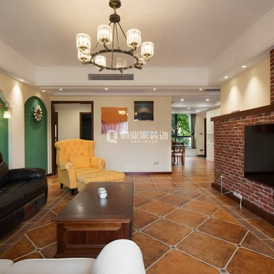 重庆绿地翠谷4房美式风格装修设计案例作品_1605058759_4312766