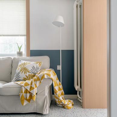 水磨石+色块的日式小家,充满温馨与颜值_1609742880_4355404