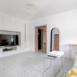 水磨石+色块的日式小家,充满温馨与颜值_1609742880_4355403