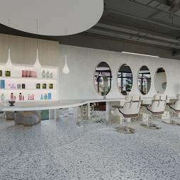 理发店设计-工业风与艺术极简中的平衡_1609747990_4355624