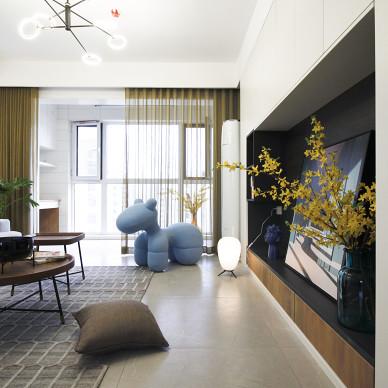 绿色包裹的家,简约三房——《冬日暖阳》_1610242123_4359900