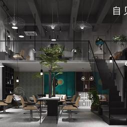 自见空间新作-跃层理发店的现代简约_1612445281_4376968