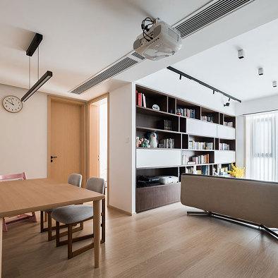 泓点设计原创|家的思考——书香氛围之家