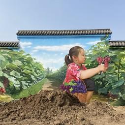成都美丽乡村手绘墙|3D立体画|墙体彩绘_1614868221_4389808