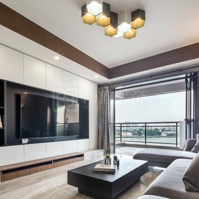 质感十足的简约空间,一次居家的时尚对话