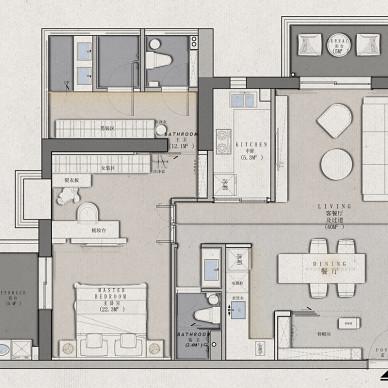 四室改一室,深圳女孩LDK一体化的家_1615890996_4398277