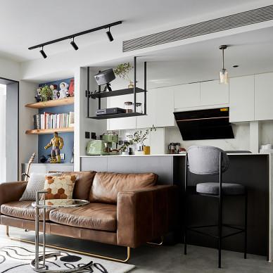 62㎡精致小家,书房&衣帽间一体式设计_1616119365_4400151