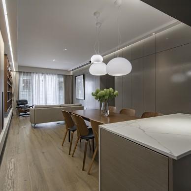四居室开放厨房+客餐厅,满墙书柜亲子空间_1616207568_4401259