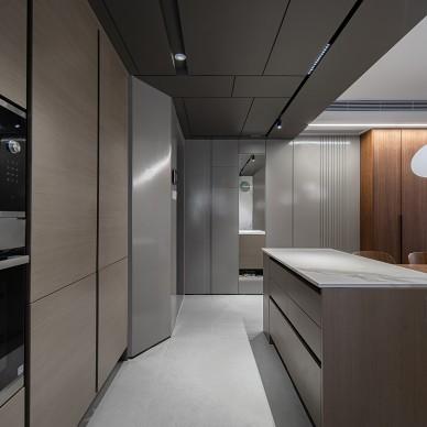 四居室开放厨房+客餐厅,满墙书柜亲子空间_1616207578_4401271