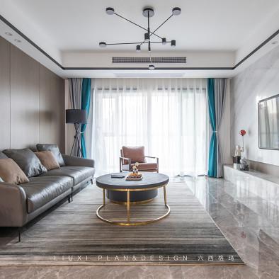135㎡现代风:高级灰+蓝,舒适气质宅!