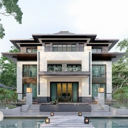 【视觉旋律】新中式别墅建筑设计_1616820169
