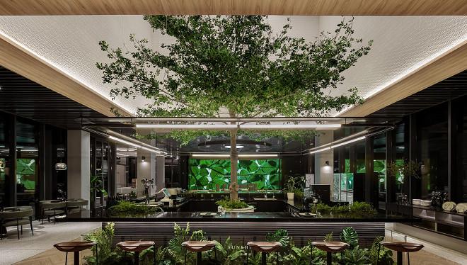 一间会呼吸的雨林餐厅Afterain