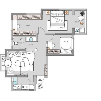 大作空间设计|奶油味侘寂风《读书少女》_4416781