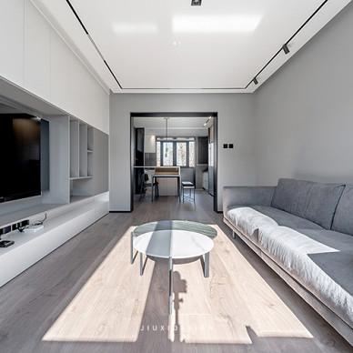 10㎡现代简约,打造时尚舒适的灰度空间_1618630656_4423283