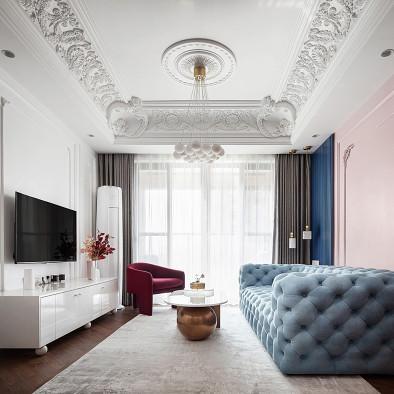 法式轻奢风,脏粉色+藏青色是yyds!