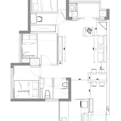 二胎家庭扩容术30平客厅住出50平既视感_1624610923_4472945