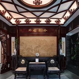 中式别墅样板间红木装修实拍_1625711253