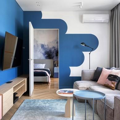 蒙德里安风格:明亮的配色反映了房子的动态_1626667858_4489726