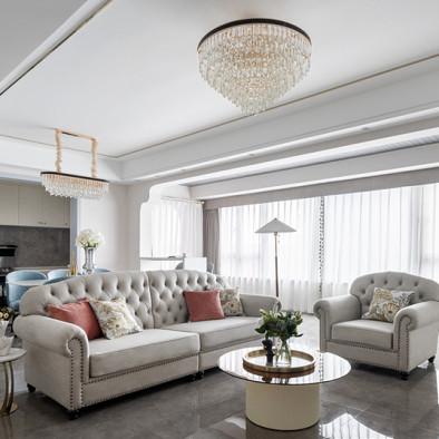 龙湖春江天镜现代美式轻奢风格装修设计案例