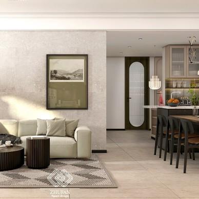 百平米空间设计,打造三口之家简单的快乐_1627026947_4492841