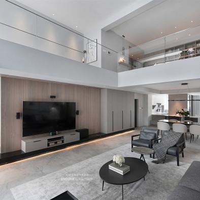 300平现代简约复式,楼梯改造方案绝了