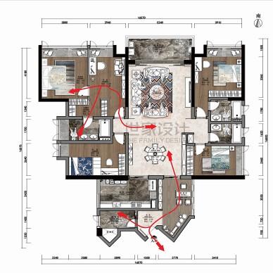 180㎡二手房改造,给你高山流水般的家_1630288463_4523607