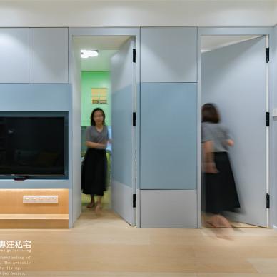 71㎡旧房改造:用这抹蓝调打造舒适的生活_1631153353_4533680