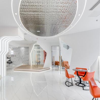 打造300㎡舒适与未来科技感的高端美容院