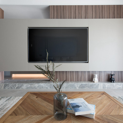 龙湖椿山四居室现代混搭风格装修案例