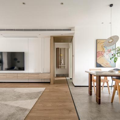 开放通透且艺术感满满的五口之家